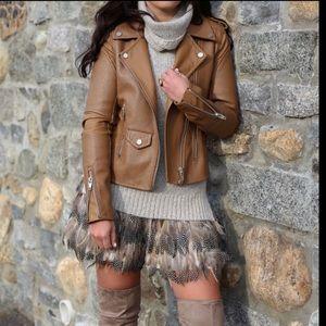 BLANKNYC Denim Easy Rider Faux Leather Moto Jacket
